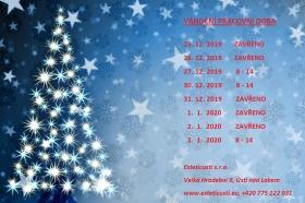 Otevírací doba během Vánoc